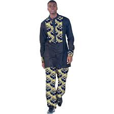 Shirts And Pants African Print Clothing Men Tops Trousers Set Shirts And