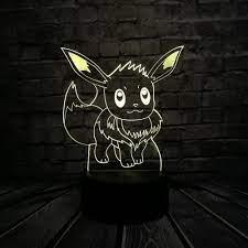 Bán Phim Hoạt Hình Nhật Bản 3D Đèn LED USB Trò Chơi Pokemon Go Hình Eevee  Thú Vị Đầy Màu Sắc Acrylic Máy Tính Bảng Đèn Ngủ Trẻ Em đồ Chơi