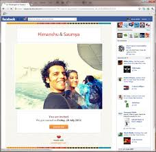 indian wedding website with free email invitations facebook and