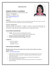 Example Of Simple Resume For Job Appl How To Write A Resume For A