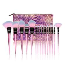 flamingal collection 17pcs makeup brush set with bag