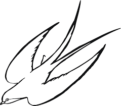 Small Picture bird to color Download and Print swallow bird coloring page