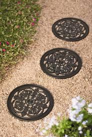 decorative garden stepping stones. *Fleur De Lis Stepping Stones Decorative Garden E