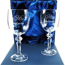 20th anniversary mr and mrs wine glasses