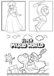 4 Coloriages Mario Super Mario World Yoshi Plante Princesse