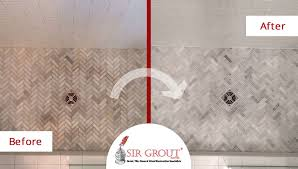 before and after picture of a shower tile and grout cleaning service in franklin tennessee