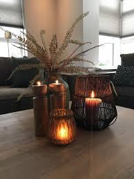 Salontafel Decoratie Vazen En Windlichten Woonkamer Landelijk Warm