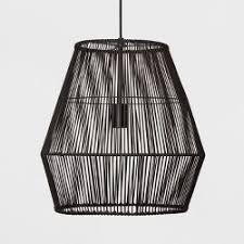 crosby collection large pendant light. Diamond Rattan Ceiling Light Black - Opalhouse\u0026#153; Crosby Collection Large Pendant