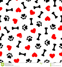 red dog bone background. Wonderful Bone Download Cute Seamless Pattern With Dog Bone Paw Print And Red Heart  Transparent Background Inside Bone S