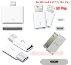 10PCS Lot For iPhone 4 5 5S 6 6s Plus iPod Micro USB Converter