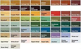 Sadolin Classic Colour Chart Sadolin Classic Woodstain All Colours All Purpose