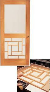 Homemade Screen Door Designs Wooden Storm Door Popular Woodworking Magazine