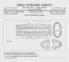 Template Periodontal Chart Template Dental Charting Forms