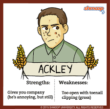 ackley in the catcher in the rye character analysis