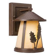 hampton bay lodge 1 light weathered spruce outdoor wall mount lantern