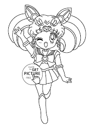 Small Picture Mini Sailor moon anime coloring pages for kids printable free
