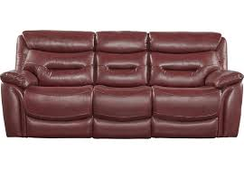 lr sof bennato red Bennato Red Leather Reclining Sofa $PDP Primary 936x650$