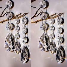 60pc acrylic crystal bead chandelier wedding centerpiece garland chain prisms