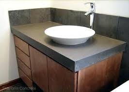 concrete vanity sink top with vessel tops throughout inspirations diy reclaimed wood v