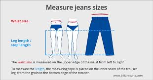 jean size converter mens size charts guide how to measure convert easy fitting guide
