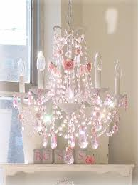 enchanting chandelier for girls room baby nursery chandelier pink crystal chandeliers with flowers and