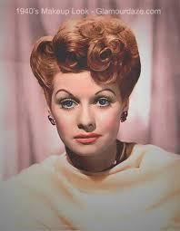 lucille ball 1940s makeup look