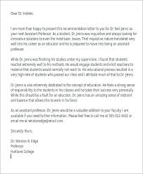 Sample Letter Of Recommendation For A Teacher Position Recommendation Letter For College Teaching Position Sample Professor