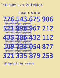 Thai Lottery Chart 2016 Http Thaibahts Org