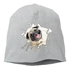 more happy pug pug gifts women men wool hat soft stretch beanies skull cap black 2rd3e