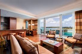 Ocean Living Room Partial Ocean View 2 Bedroom Suite In Miami The Ritz Carlton Bal