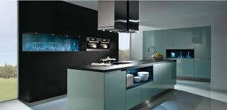 er steel blue high gloss handleless kitchen ireland