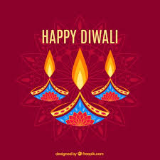 Abstract Diwali Background With Candles Vector Free Download