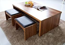coffee table with stools and storage four india
