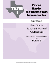 3 Tier Math Model Assessment Texas Early Mathematics Inventories