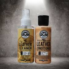 chemical guys leather cleaner conditioner complete leather care kit 4 oz 2 pack