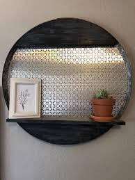 rustic glam shelf
