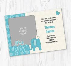 Online Announcement Cards Its A Baby Boy Announcements