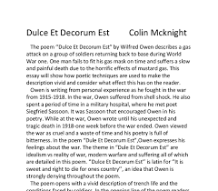 top tips for writing in a hurry dulce et decorum est essays dulce et decorum est sample essay pbworks