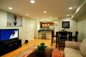 ... Charming Basement Interior With Various Basement Wall Color :  Extraordinary Basement Living Room Decoration Using White ...