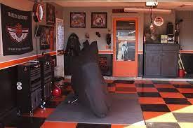 garage decor harley motorcycle garage