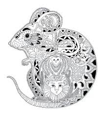 Small Picture Free coloring page coloring adult animals mouse Drawing of a
