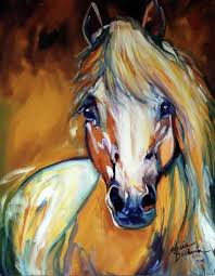 abstract horse head painting