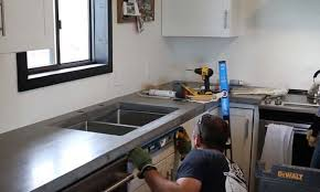 how to level concrete countertops when installing