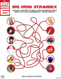 Big Hero 6 Coloring Pages Activity