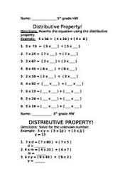Properties Of Multiplication Worksheets 5th Grade - multiplication ...distributive property multiplication worksheets for 4th grade