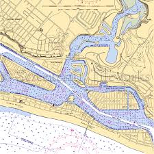 California Nautical Charts California Newport Beach I Nautical Chart Decor