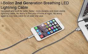 i bollon 3 3ft 1m nylon braided iphone charger cable with lightning connector