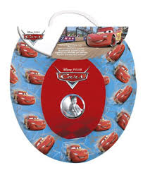 Disney Cars Blue And Red Kids Padded Toilet Seat Soft Potty Training