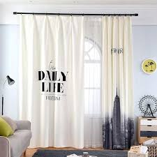 White Modern Curtains Black And For Bedroom Living Room – Best House ...