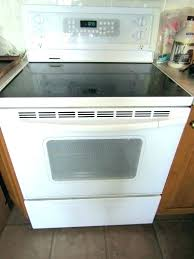 ge glass top stove replacement stoves lot self cleaning convection sears profile burner not working